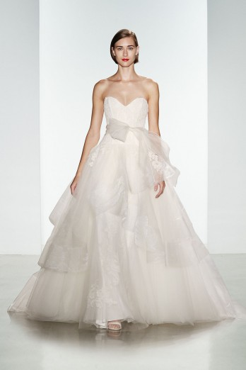 strapless dropped waist kenneth pool wedding dress